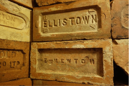 Picture of bricks with Ellistown imprint.