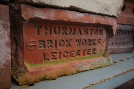 Picture of bricks with Thurmaston imprint.