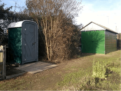 syston allotment portaloo